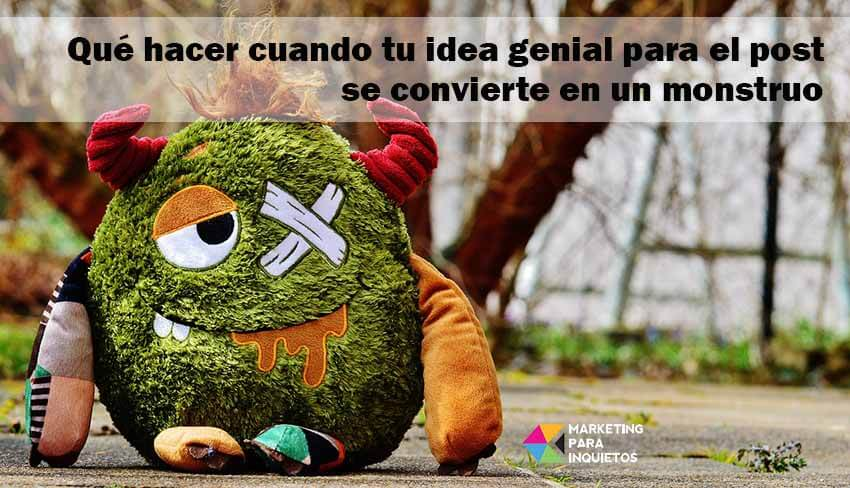 idea post monstruo